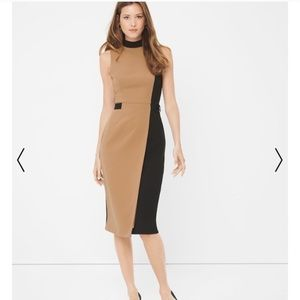 WHBM black beige dress